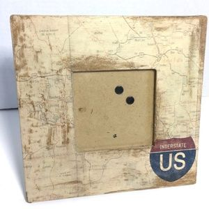 Interstate US Map 3.5x3.5 Photo Frame